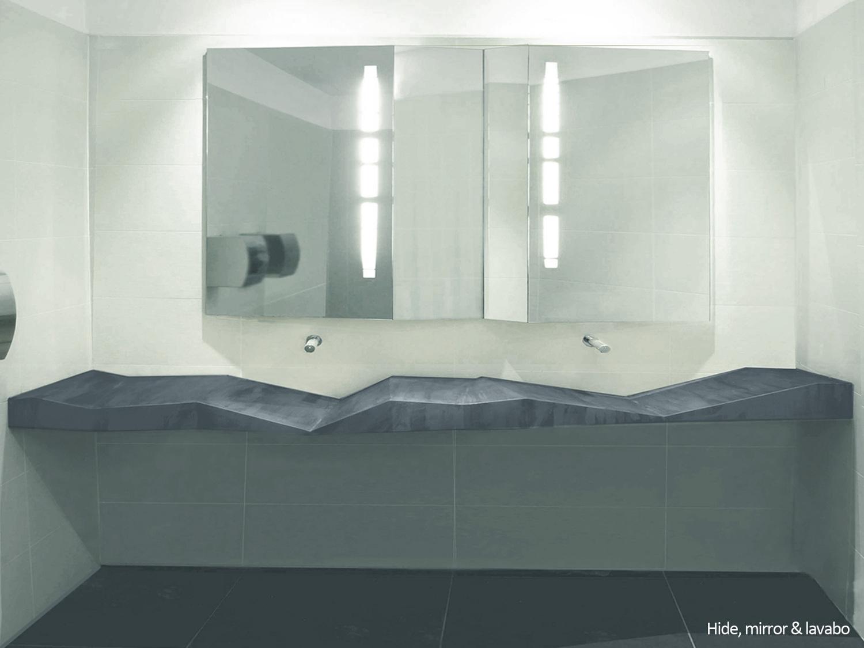 Hide, lavabo and mirror. Limited edition design - raoul.gilioli
